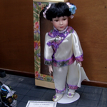 "The Knightsbridge Collection Porcelain doll chinese chin line doll 16"" very nice @SOLD@"